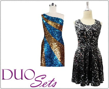 Discounted Sequin Dresses Duo Sets