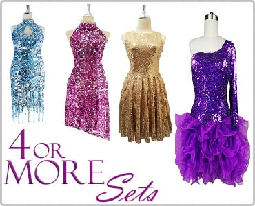 Discounted SequinQueen Dresses Four or More Sets