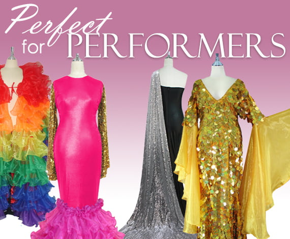 Drag Queen Sequin Dresses and Performers Sequence Dresses