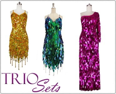 Discounted Sequin Dress Trio Sets